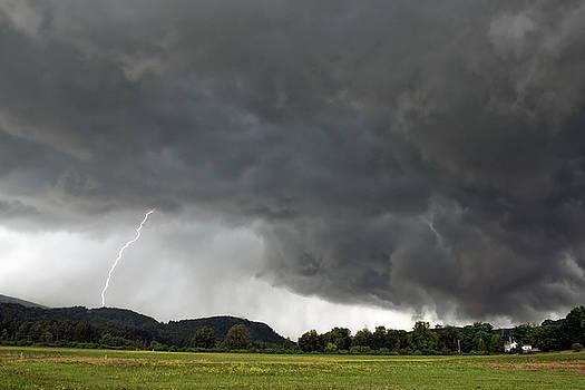 Lightning Strike on Tyringham Plain by Geoffrey Coelho
