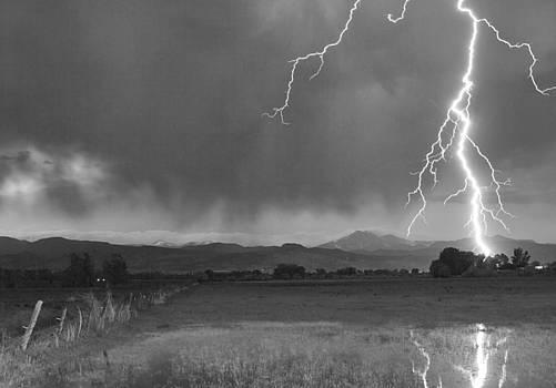 James BO  Insogna - Lightning Striking Longs Peak Foothills 5BW