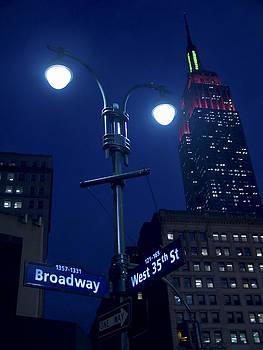Lights on Broadway by Andrew Kazmierski
