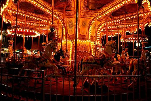 Lights On Merry-Go-Round by Maria Young