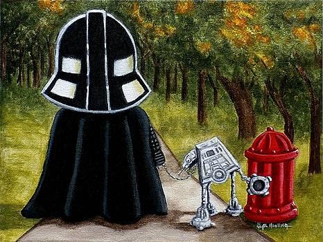 Lil Vader walking his At At by Al  Molina