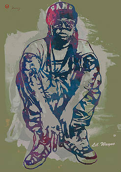 Lil Wayne Pop Stylised Art Poster by Kim Wang