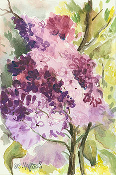 Lilacs - Note Card by Elisabeta Hermann