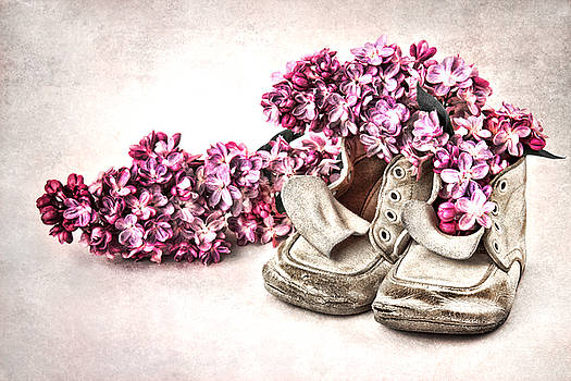 Lilacs in Baby Shoes by Vicki McLead