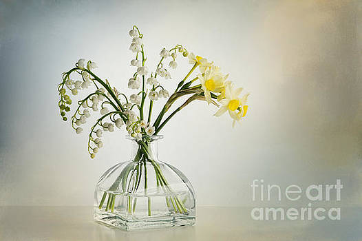 Lilies of the Valley in a Glass Vase by Ann Garrett