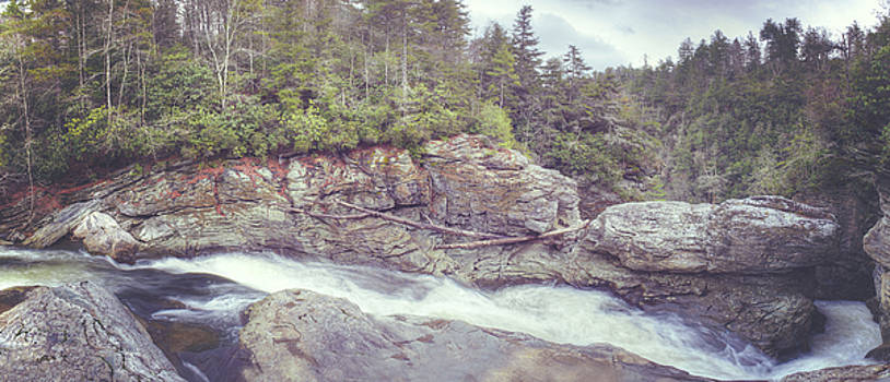 Linville Falls Panorama by Ray Devlin
