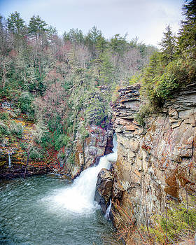 Linville Falls Plunge Basin Overlook by Ray Devlin