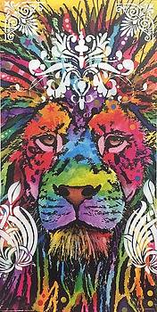 Lion Modified Print by Dean Russo