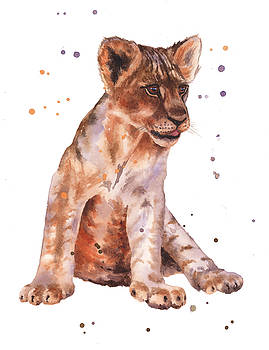 Lion Painting by Alison Fennell
