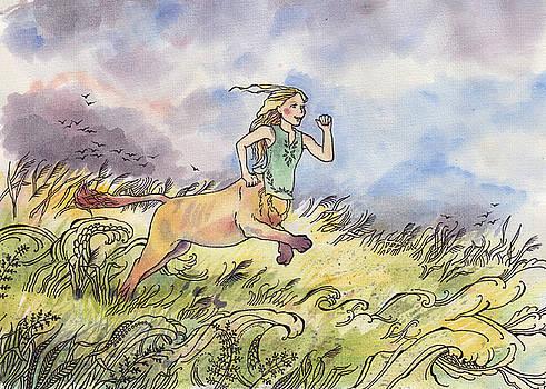 Lioness Running by Sarah Kovin Snyder