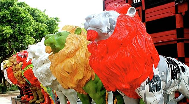 Lions in Ponce by Janice Aponte