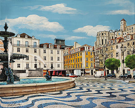 Lisbon's Rossio Square by Bill Dunkley