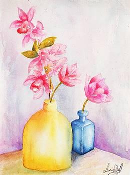 Little Blue Vase by Lucia Del