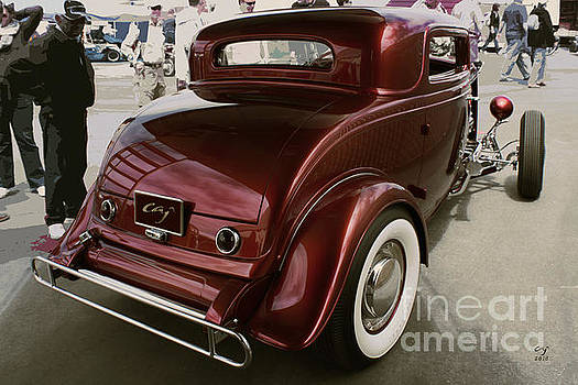 Little Deuce Coupe Aft View by Curt Johnson
