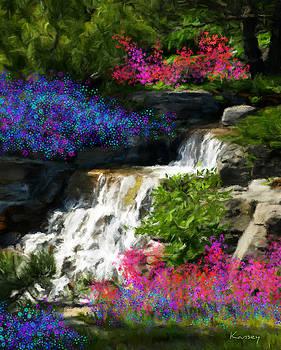 Little garden waterfalls by Johanne Dauphinais