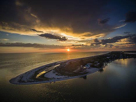 Little Gasparilla Island Point Sunset by Nick  Shirghio