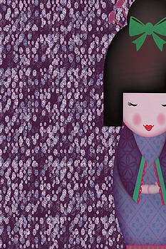 Little Geisha Purple by Jannina Ortiz