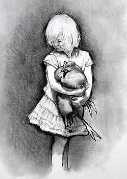 Joyce Geleynse - Little Girl With Pet Chicken