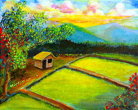 Little Hut in the Farm by Cyril Maza