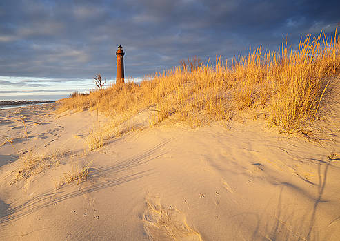 Little Point Sable Lighthouse 30 Minutes  Before Sunset by Kevin Kludy
