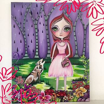 little Red Riding Hood Painting by Jaz Higgins