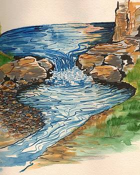 Little waterfall by Jeanette Lindblad