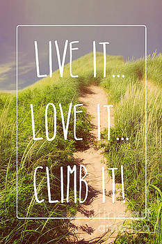 Live it Love it Climb it Quote by Verena Matthew