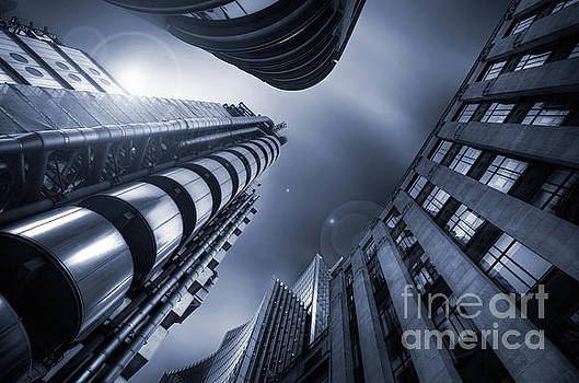Lloyds Insurance London in Blue by Martin Williams