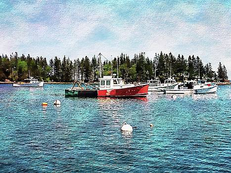 Lobster By Night - Sleep By Day - Camden Maine by Joseph Hendrix