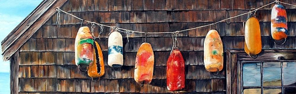 Lobster Buoys, Nova Scotia by Anna-maria Dickinson