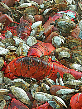 Lobster Clam Bake Connecticut Style1 by Emmy Marie Vickers