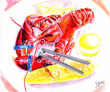 Lobster Platter by John Keaton