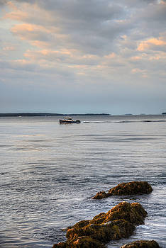 Lobsterboat Freedom II - Bass Harbor, Maine by Geoffrey Coelho