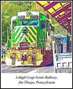 Locomotive, Lehigh Gorge Scenic Railway, Jim Thorpe, Pennsylvani by A Gurmankin