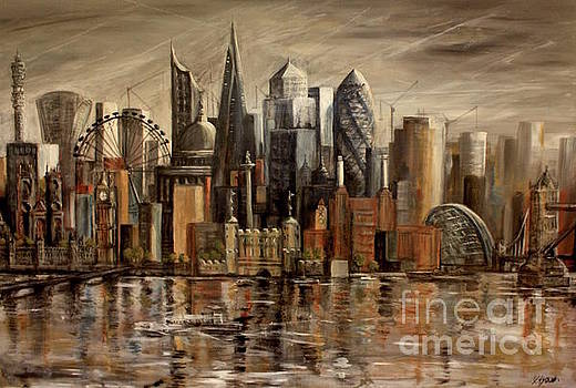 London Cityscape by Yvonne Ayoub