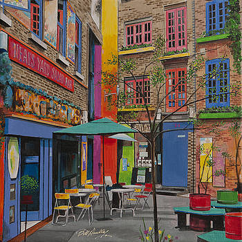 London Courtyard Charm by Bill Dunkley