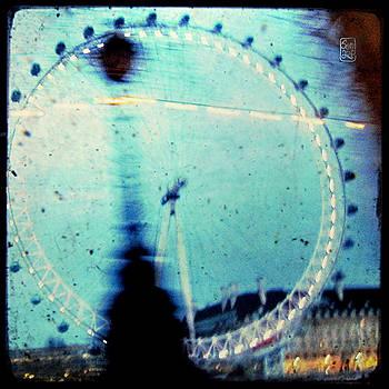 London Eye Through the Taxi Window by Sonia Stewart