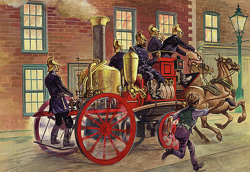 Peter Jackson - London fire engine of circa 1860