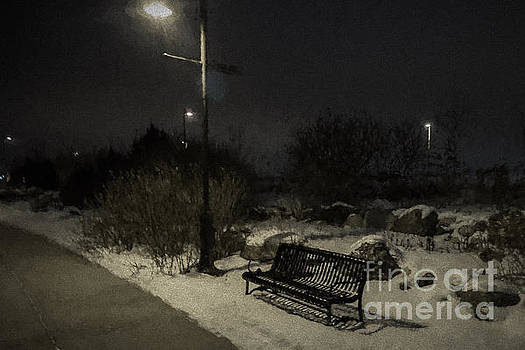 Lonely Bench in Winter by Gary Rieks