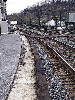 Lonely Train Tracks by Donovan Hubbard