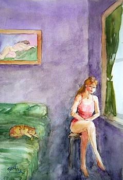 Lonesome in a room by Faruk Koksal
