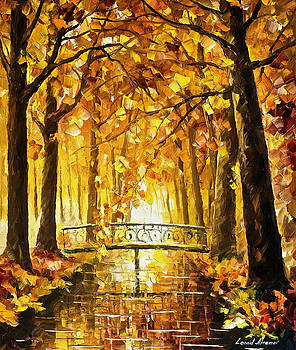 Long Before Winter - PALETTE KNIFE Oil Painting On Canvas By Leonid Afremov by Leonid Afremov