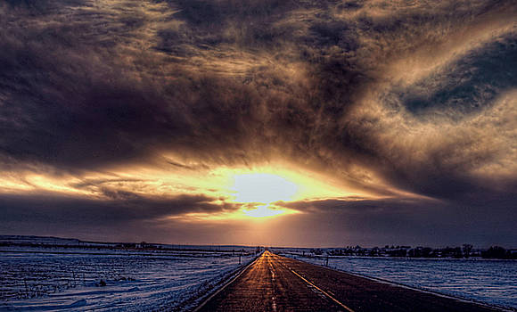 Long Road To Sunset by Aliceann Carlton