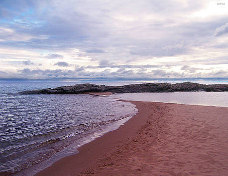 Long Rock In Lake Superior by Phil Perkins
