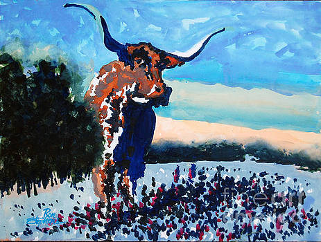 Longhorn Study #4 by Ron Stephens