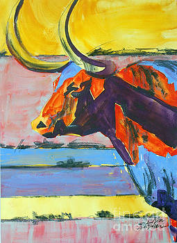 Longhorn Study#1 by Ron Stephens