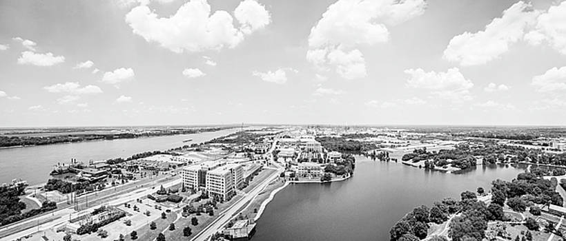 Looking North from the State Capitol Baton Rouge Panoramic  by Scott Pellegrin