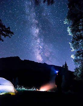 Looking up at Milky Way by Michael J Bauer