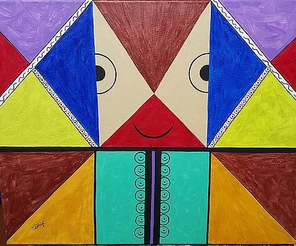 Looking with a blind eye by Catherine Velardo