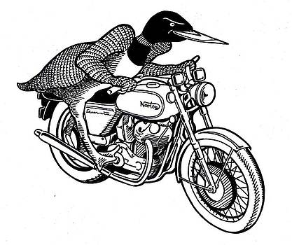 Loonie Rider on Norton by John Cullen